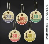 vintage style sale tags design...   Shutterstock . vector #197301578
