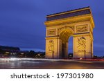 the arch of victory in paris... | Shutterstock . vector #197301980