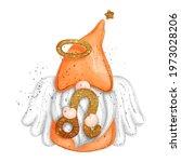 digital paint watercolor gnome...   Shutterstock .eps vector #1973028206
