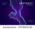 electronic fest. dynamic fluid...   Shutterstock .eps vector #1973042150
