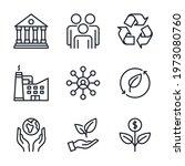 esg concept. environmental ... | Shutterstock .eps vector #1973080760