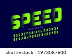 speed style font typography... | Shutterstock .eps vector #1973087600