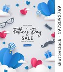 happy father's day greeting... | Shutterstock .eps vector #1973092769