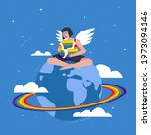 global lgbt pride gay concept....   Shutterstock .eps vector #1973094146