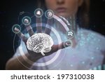 doctor working with futuristic... | Shutterstock . vector #197310038
