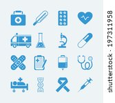 medical icons set. vector eps10 ... | Shutterstock .eps vector #197311958