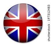 uk england flag button  | Shutterstock . vector #197312483