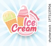 tasty colorful ice cream label. ... | Shutterstock .eps vector #1973135906