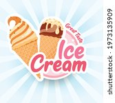 tasty colorful ice cream label. ... | Shutterstock .eps vector #1973135909