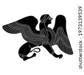 fantastic winged female sphinx. ... | Shutterstock .eps vector #1973139539