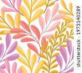hand drawn floral pattern....   Shutterstock .eps vector #1973140289