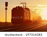 train cargo in railroad at a... | Shutterstock . vector #197314283