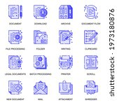 document web flat line icons...   Shutterstock .eps vector #1973180876