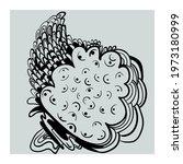 abstract unusual vector artwork ... | Shutterstock .eps vector #1973180999