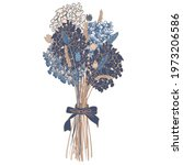 vector image of a bouquet of... | Shutterstock .eps vector #1973206586