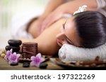 beautiful woman having a... | Shutterstock . vector #197322269