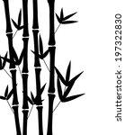 bamboo tree  silhouette | Shutterstock .eps vector #197322830