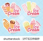tasty colorful ice cream badges ... | Shutterstock .eps vector #1973239889