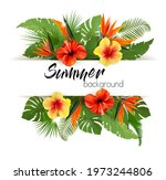summer holiday background with... | Shutterstock .eps vector #1973244806