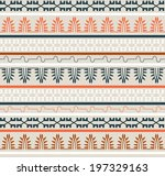 seamless ethnic elements... | Shutterstock .eps vector #197329163