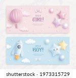 set of baby shower invitation... | Shutterstock .eps vector #1973315729