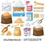 cartoon sugar. cube sugar ...   Shutterstock .eps vector #1973320379