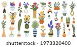 vases with flowers. blooming... | Shutterstock .eps vector #1973320400