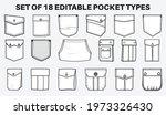 patch pocket flat sketch vector ... | Shutterstock .eps vector #1973326430