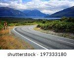 scenic empty road in new... | Shutterstock . vector #197333180
