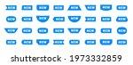 new sticker set. sale tags....   Shutterstock .eps vector #1973332859