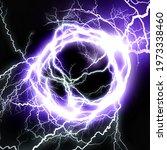 Abstract Blue Lightning Vortex...