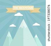 mountain flat design concept. | Shutterstock .eps vector #197338076
