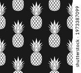pineapple seamless pattern.... | Shutterstock .eps vector #1973387099