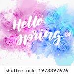 hello spring   handwritten...   Shutterstock .eps vector #1973397626