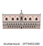 drawing of historical buildings ...   Shutterstock .eps vector #1973402180