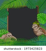 empty tropical leaves frame... | Shutterstock .eps vector #1973425823