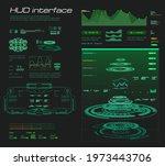 futuristic green interface hud  ...