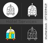 porter service dark theme icon. ... | Shutterstock .eps vector #1973559419