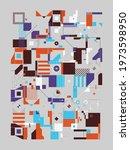 modern artwork of abstract... | Shutterstock .eps vector #1973598950