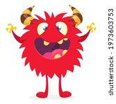 happy cartoon monster....   Shutterstock .eps vector #1973603753