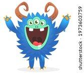 happy cartoon monster....   Shutterstock .eps vector #1973603759