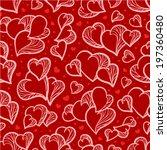 heart vector seamless pattern | Shutterstock .eps vector #197360480