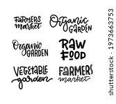 set of organic food labels.... | Shutterstock .eps vector #1973663753