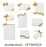 collection of various note card ... | Shutterstock . vector #197369324