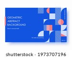 geometric abstract backgrounds... | Shutterstock .eps vector #1973707196