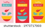 breakfast poster set with... | Shutterstock .eps vector #1973717003