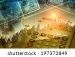 financial and business chart... | Shutterstock . vector #197372849