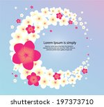 plumeria flowers and tropical ... | Shutterstock .eps vector #197373710