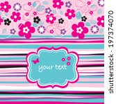 beautiful flowers invitation...   Shutterstock .eps vector #197374070