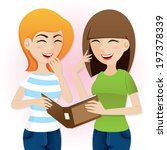 illustration of cartoon teenage ... | Shutterstock .eps vector #197378339